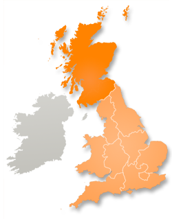 Area map of UK